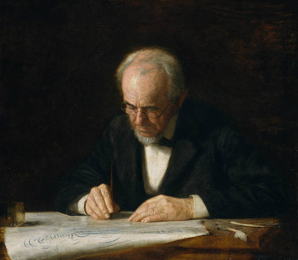 Painting - The Writing Master by Thomas Eakins