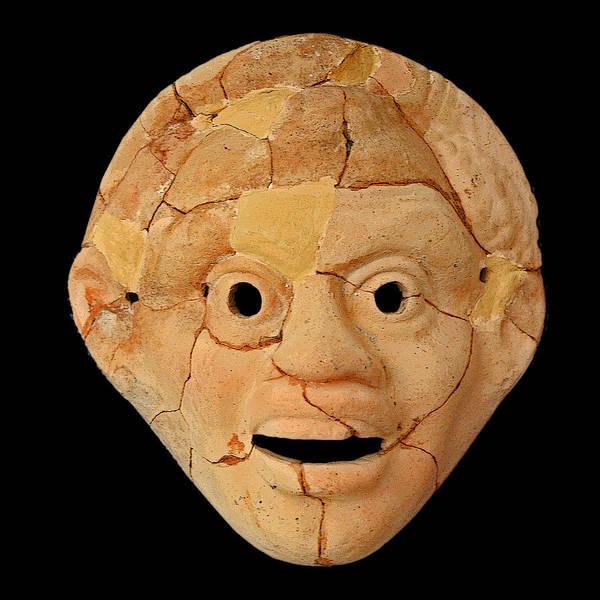Ptolemy Digital Art - Theatrical Masks. Graecoroman Period. by Andy Za