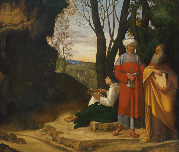 16th Century Wall Art - Painting - Three Philosophers by Giorgione