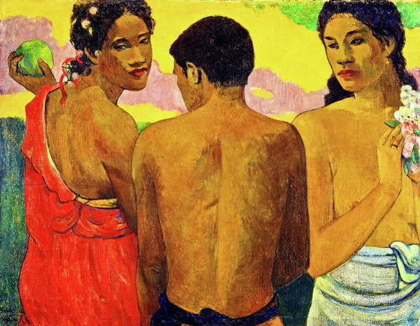 Painting - Three Tahitians by Paul Gauguin