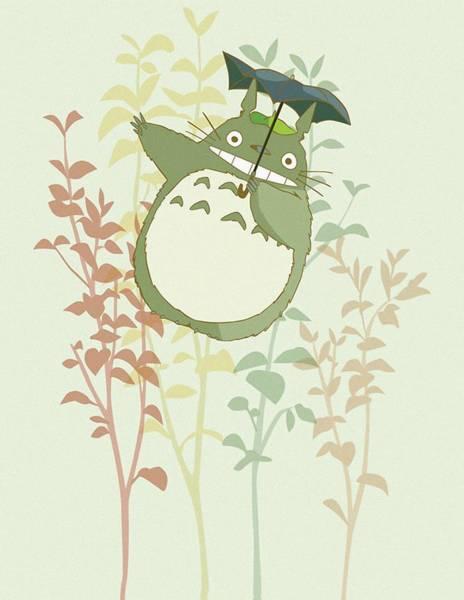 Totoro Digital Art - Totoro by Lobito Caulimon