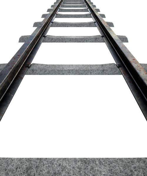 Train Tracks Digital Art - Train Tracks Isolated by Allan Swart