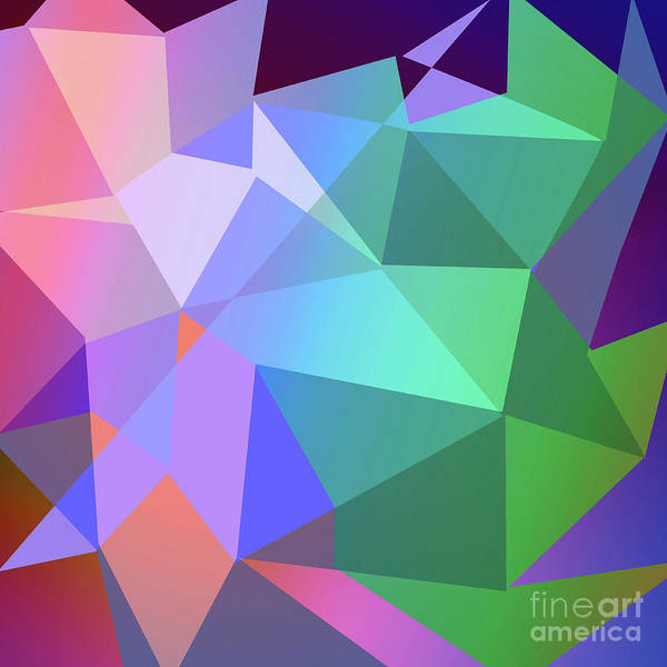 Wall Art - Digital Art - Triangle Abstract Color by Atiketta Sangasaeng
