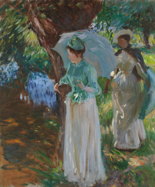 Painting - Two Girls With Parasols by John Singer Sargent