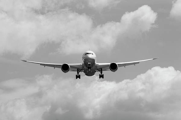 Wall Art - Photograph - United Airlines Boeing 787 by David Pyatt