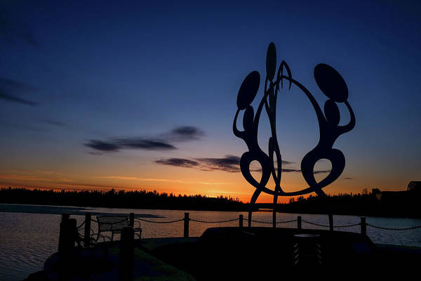 Photograph - United In Celebration Sculpture At Sunset 2 by John McArthur