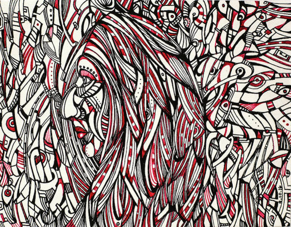 Drawing - Untitled 2016b003 by Lino Vicente