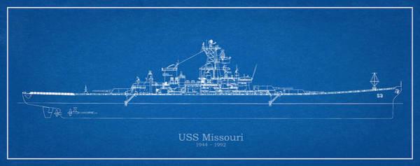 Steel Drawing - Uss Missouri by JESP Art and Decor