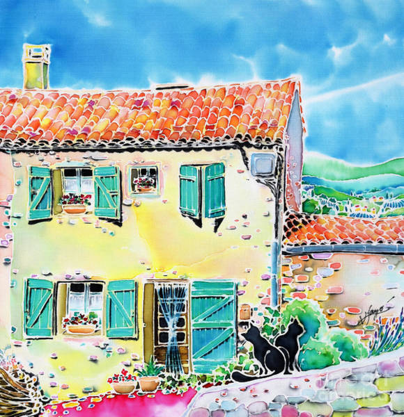 Painting - View Of Luberon by Hisayo Ohta