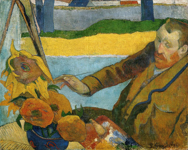 Painting - Vincent Van Gogh Painting Sunflowers by Paul Gauguin