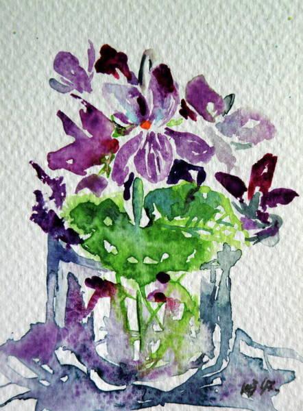 Violet Painting - Violet by Kovacs Anna Brigitta