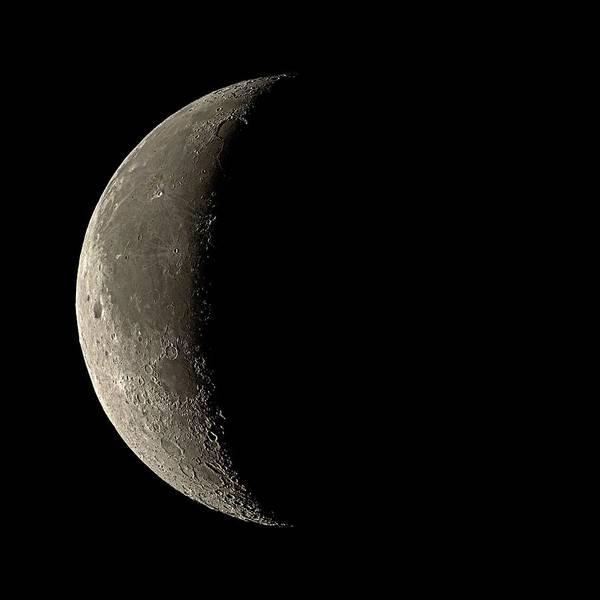 Period Photograph - Waning Crescent Moon by Eckhard Slawik