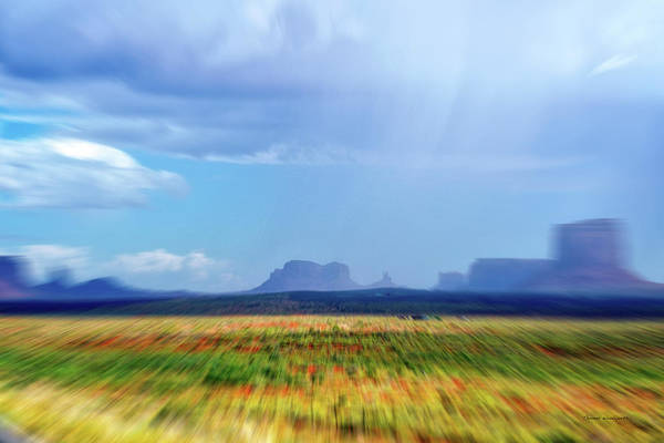 Cell Phone Cases Mixed Media - 4 Wheeling With The Storm Cell Approaching Monument Valley 06 by Thomas Woolworth