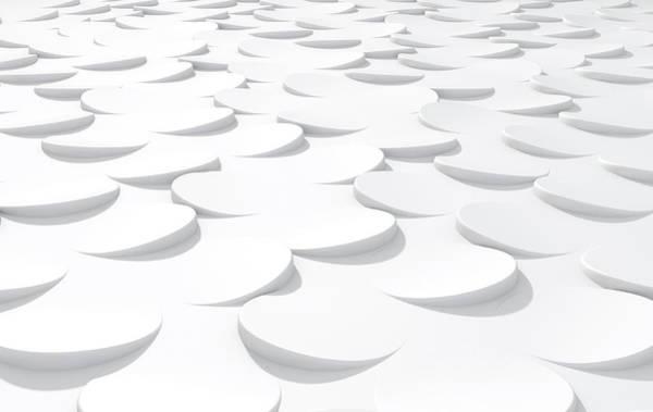 Wall Art - Digital Art - White On White Scale Peels by Allan Swart