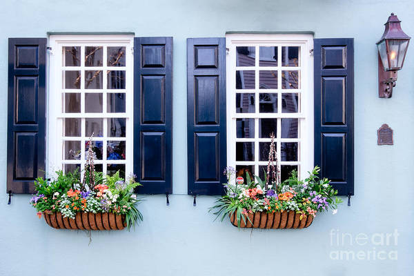Low Battery Photograph - Windows Of Charleston by Dawna Moore Photography