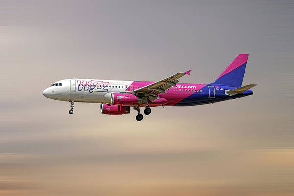 Wall Art - Mixed Media - Wizz Air Airbus A320-232 by Smart Aviation