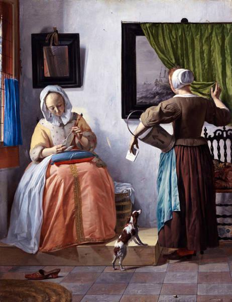 Gabriel Painting - Woman Reading A Letter by Gabriel Metsu