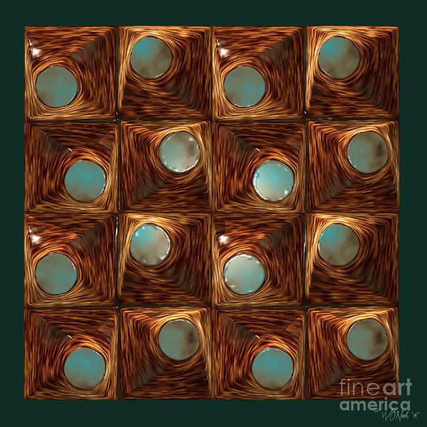 Digital Art - 4 X 4 Pop Tops 1 by Walter Neal
