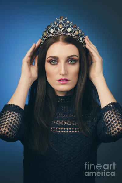 Wall Art - Photograph - Young Woman Wearing Crown by Amanda Elwell