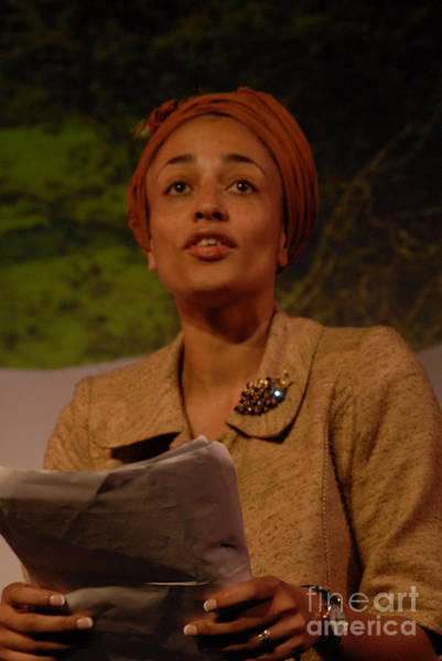 Photograph - Zadie Smith by Jenny Potter