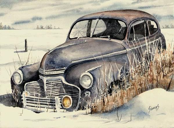 Painting - 40 Chevy by Sam Sidders