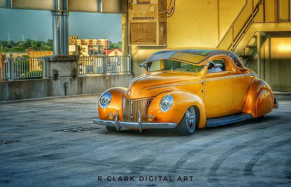 Awesome Show Digital Art - 40 Ford by Robert Clark
