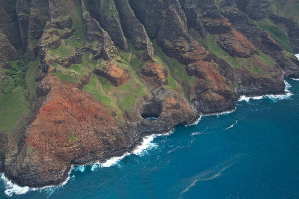Photograph - Na Pali Coast Aerial by Steven Lapkin