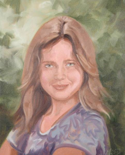 Painting - Young Girl by Gary M Long