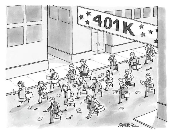 2003 Drawing - 401k Race by C Covert Darbyshire