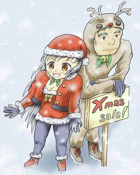 Illustration Digital Art - Merry Christmas by Hisashi Saruta