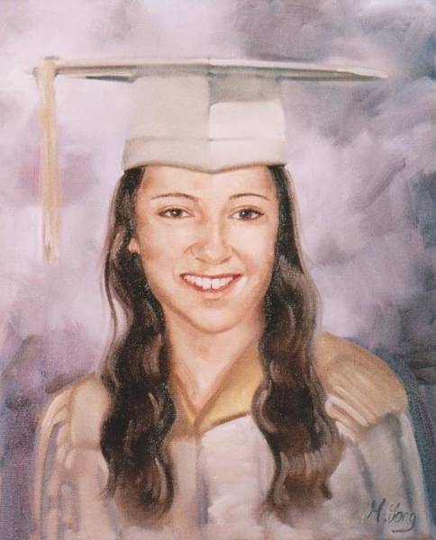 Painting - High School Graduation by Gary M Long