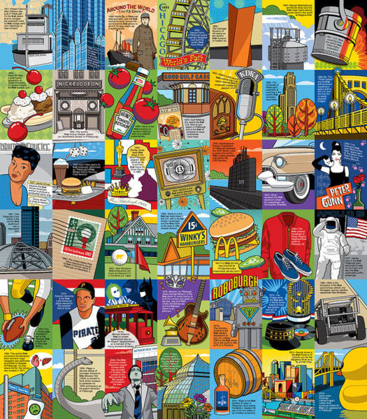 Wall Art - Digital Art - A History Of Pittsburgh Firsts by Ron Magnes