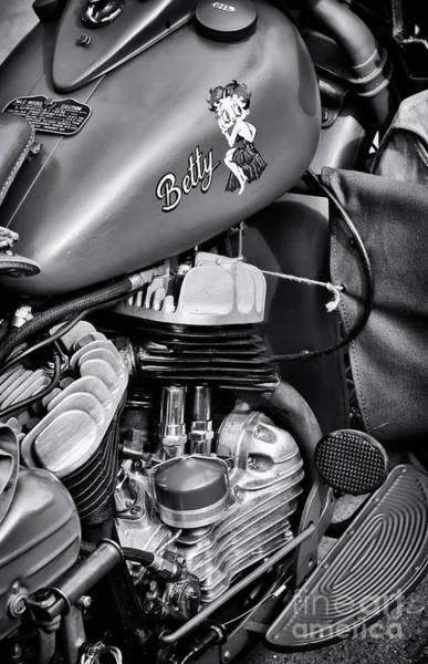 Harley Davidson Black And White Wall Art - Photograph - 42wlc Hd by Tim Gainey