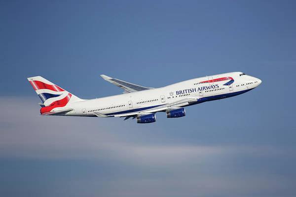 Boeing 747 Wall Art - Mixed Media - British Airways Boeing 747-436 by Smart Aviation