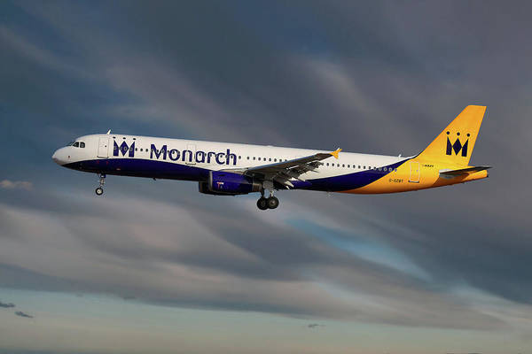 Monarch Wall Art - Photograph - Monarch Airbus A321-231 by Smart Aviation
