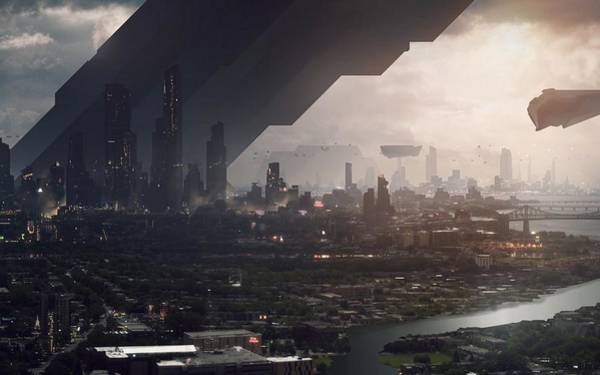 Skyline Digital Art - City by Super Lovely