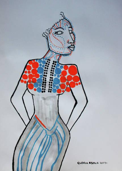 Painting - Dinka Lady - South Sudan by Gloria Ssali