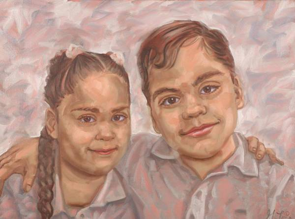 Painting - Twins by Gary M Long