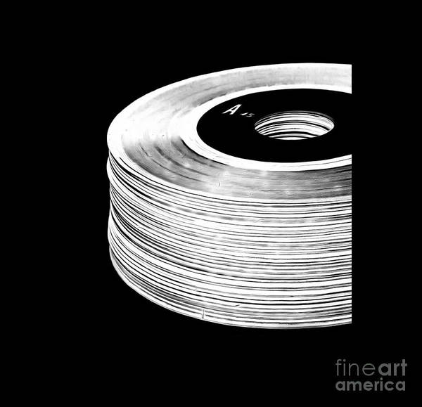 Record Album Wall Art - Digital Art - 45 Records Tee by Edward Fielding