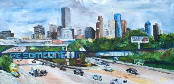 Houston Texas Painting - 45 South, Houston, Texas by Lauren Luna
