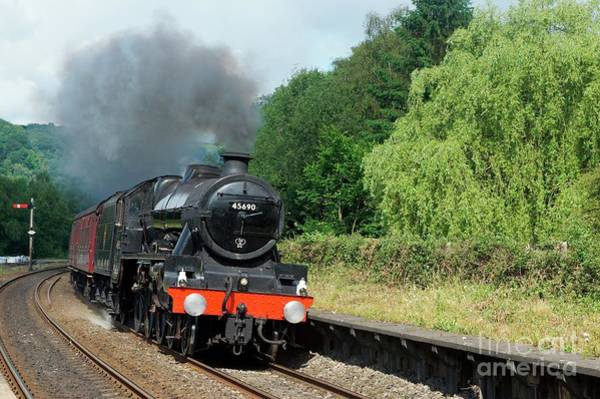 Photograph - 45690 Leander At Grindleford by David Birchall