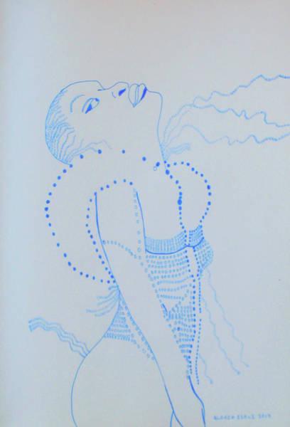 Drawing - Dinka Lady - South Sudan by Gloria Ssali