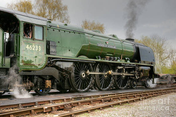 Photograph - 46233 Duchess Of Sutherland Profile by David Birchall