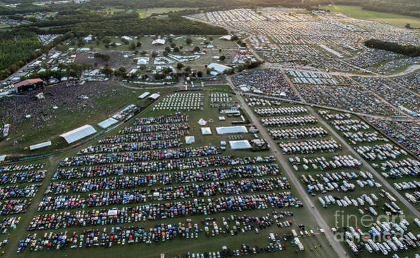 Greater Manchester Wall Art - Photograph - Bonnaroo Music Festival Aerial Photo by David Oppenheimer