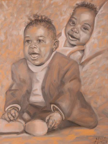 Painting - Two Generations by Gary M Long