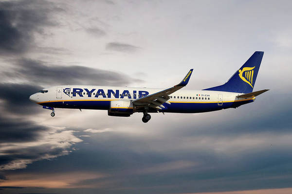 Boeing 737 Wall Art - Photograph - Ryanair Boeing 737-8as by Smart Aviation