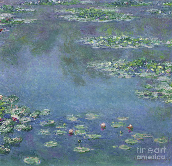 Giverny Painting - Water Lilies by Claude Monet