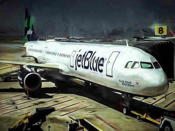 Jetblue Wall Art - Photograph - Jetblue @ New York City by Michelle Saraswati