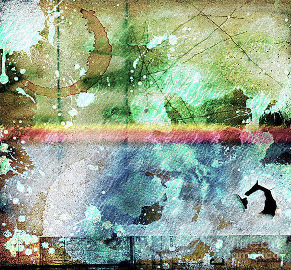 Digital Art - 4b Abstract Expressionism Digital Collage Art by Ricardos Creations