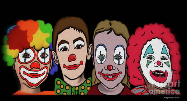 Digital Art - 4happy Clowns by Megan Dirsa-DuBois